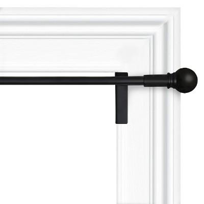 """28""""x48"""" Twist & Shout Curtain Panel Rod Black - Room Essentials™"""