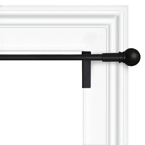 Twist & Shout Curtain Rod - Black - Room Essentials™ - image 1 of 2