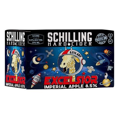 Schilling Excelsior Imperial Apple Hard Cider - 6pk/12 fl oz Cans - image 1 of 2