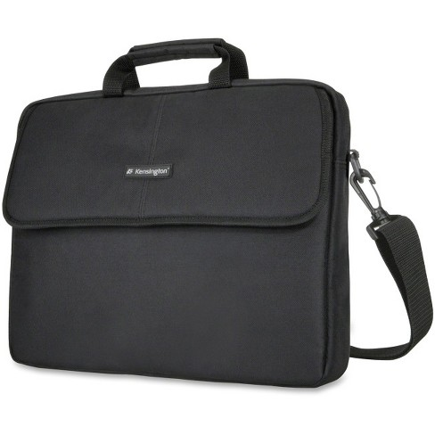 "Kensington Classic SP17 Carrying Case (Sleeve) for 17"" Notebook - Black - Polyester - Shoulder Strap - 16"" Height x 2.3"" Width x 16"" Depth - image 1 of 1"