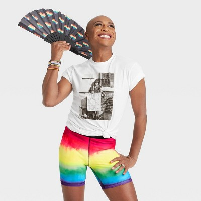 Pride Gender Inclusive Adult Marsha P. Johnson Short Sleeve Graphic T-Shirt - PH by The Phluid Project White