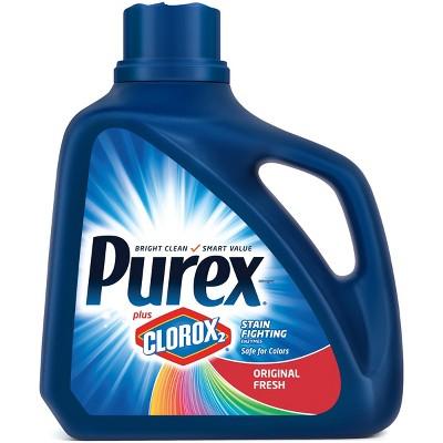 Purex Original Fresh Scent Plus Clorox2 Stain Fighting Enzymes HE Liquid Laundry Detergent 128oz- 71 loads