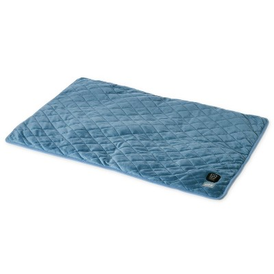 """Pure Enrichment WeightedWarmth 2-in-1 Weighted Body Pad with Warmer - 6lbs -  32"""" x 21"""" - Blue"""