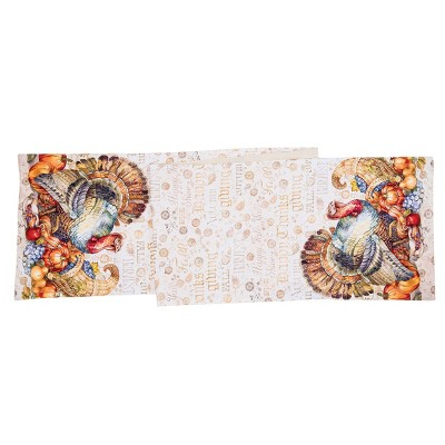 """C&F Home 13"""" x 72"""" Traditional Turkey Table Runner"""