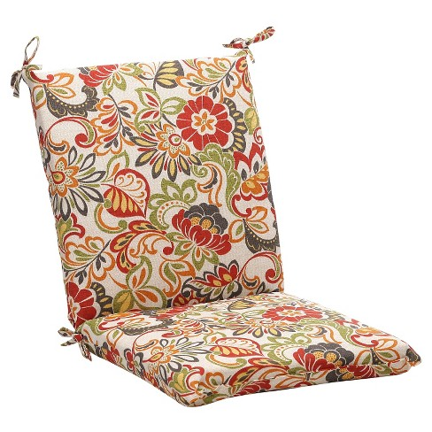 Magnificent Outdoor Chair Cushion Green Off White Red Floral Beutiful Home Inspiration Aditmahrainfo