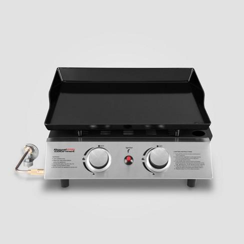 Portable 2 Burner Propane Gas Grill Griddle Pd1200 Black Royal Gourmet Target