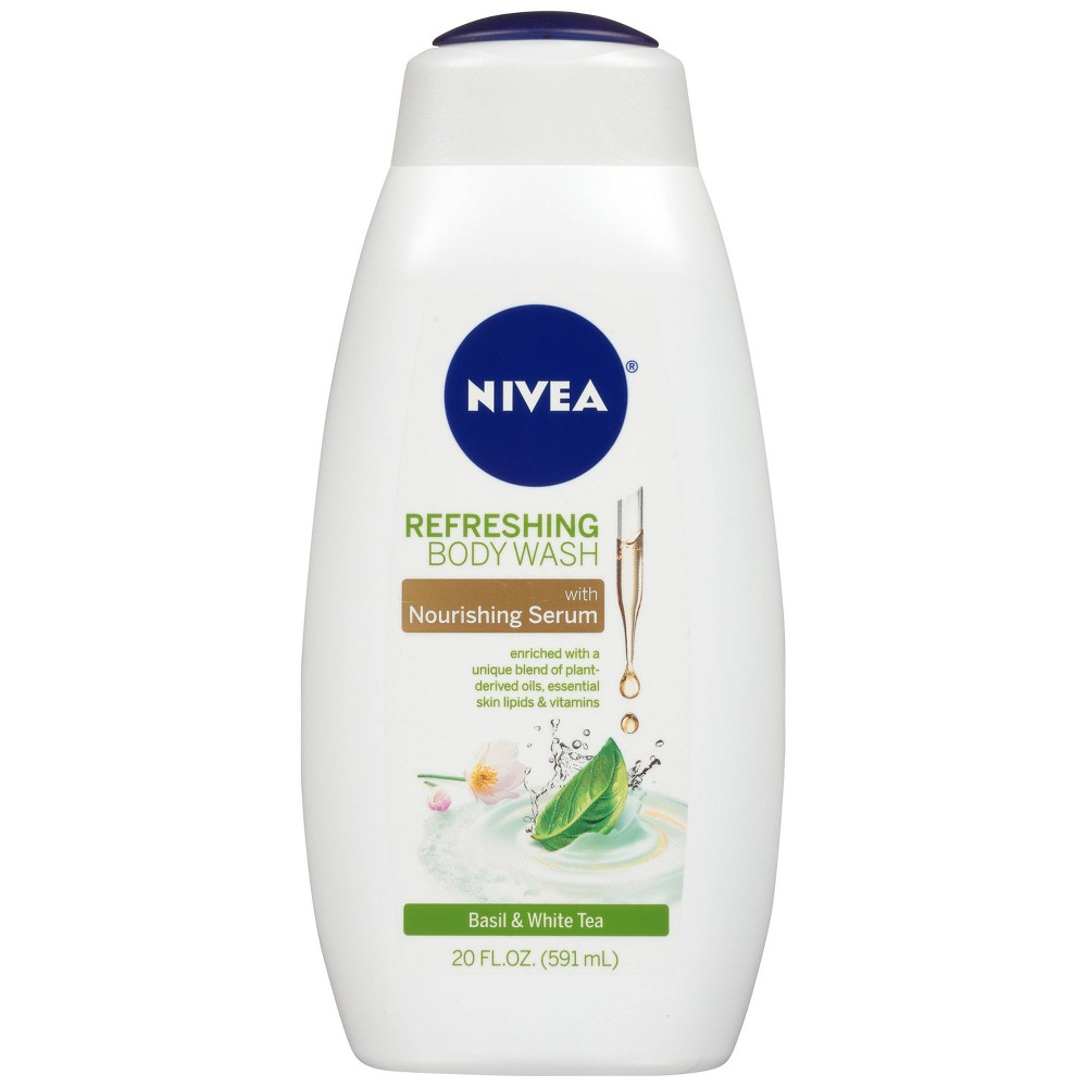 Image of NIVEA Refreshing Body Wash Basil & White Tea - 20 fl oz