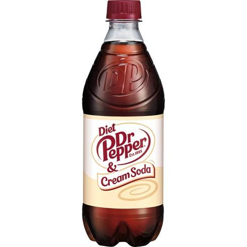 Diet Dr Pepper Cream Soda - 20 fl oz Bottle - image 1 of 4