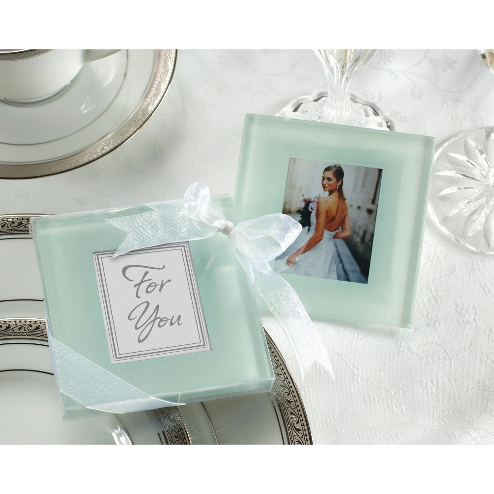 Image of 12ct Kate Aspen Forever Photo Glass Coasters