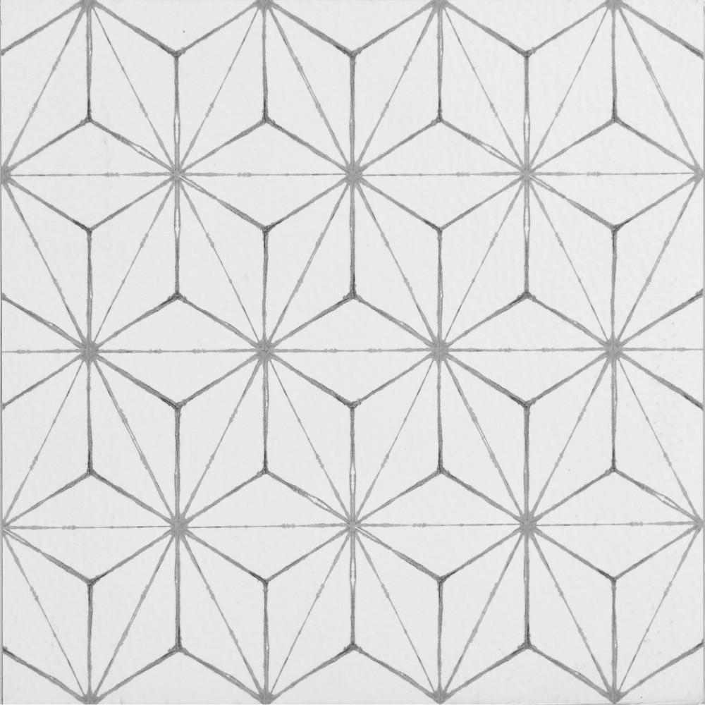 Floorpops Set Of 20 Kikko Peel 38 Stick Floor Tiles Clear