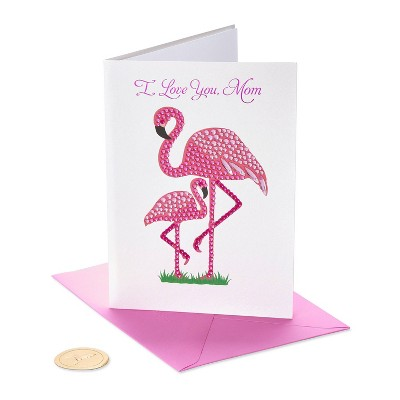 Mother's Day Greeting Card Gemmed Flamingos - PAPYRUS