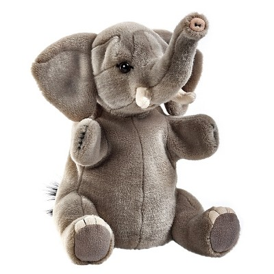 Lelly National Geographic Elephant Hand Puppet Plush Toy