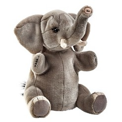 Lelly National Geographic Elephant Hand Puppet