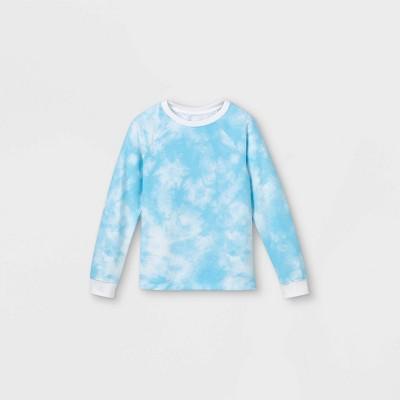 Boys' Tie-Dye Pullover Sweatshirt - Cat & Jack™ Blue/White