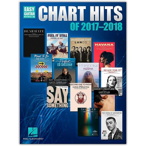 Hal Leonard Chart Hits of 2017-2018 - Easy Guitar Softcover - TAB - image 1 of 1