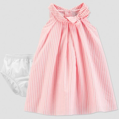 Baby Girls' Stripe Dress - Just One You® made by carter's Bubbly Pink 3M