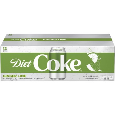 Diet Coke Ginger Lime - 12pk/ 12 fl oz Cans