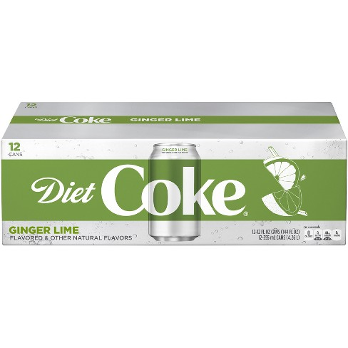 Diet Coke Ginger Lime - 12pk/ 12 Fl Oz Cans : Target