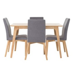 "Orrin 50"" 5 - Piece Dining Set - Natural Oak/Dark Gray - Christopher Knight Home"