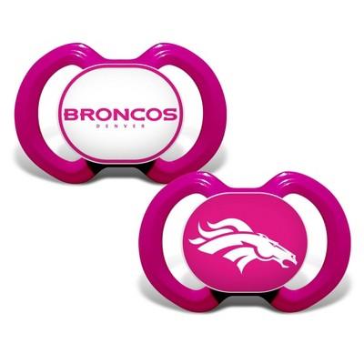 NFL Denver Broncos Pink Pacifiers 2pk
