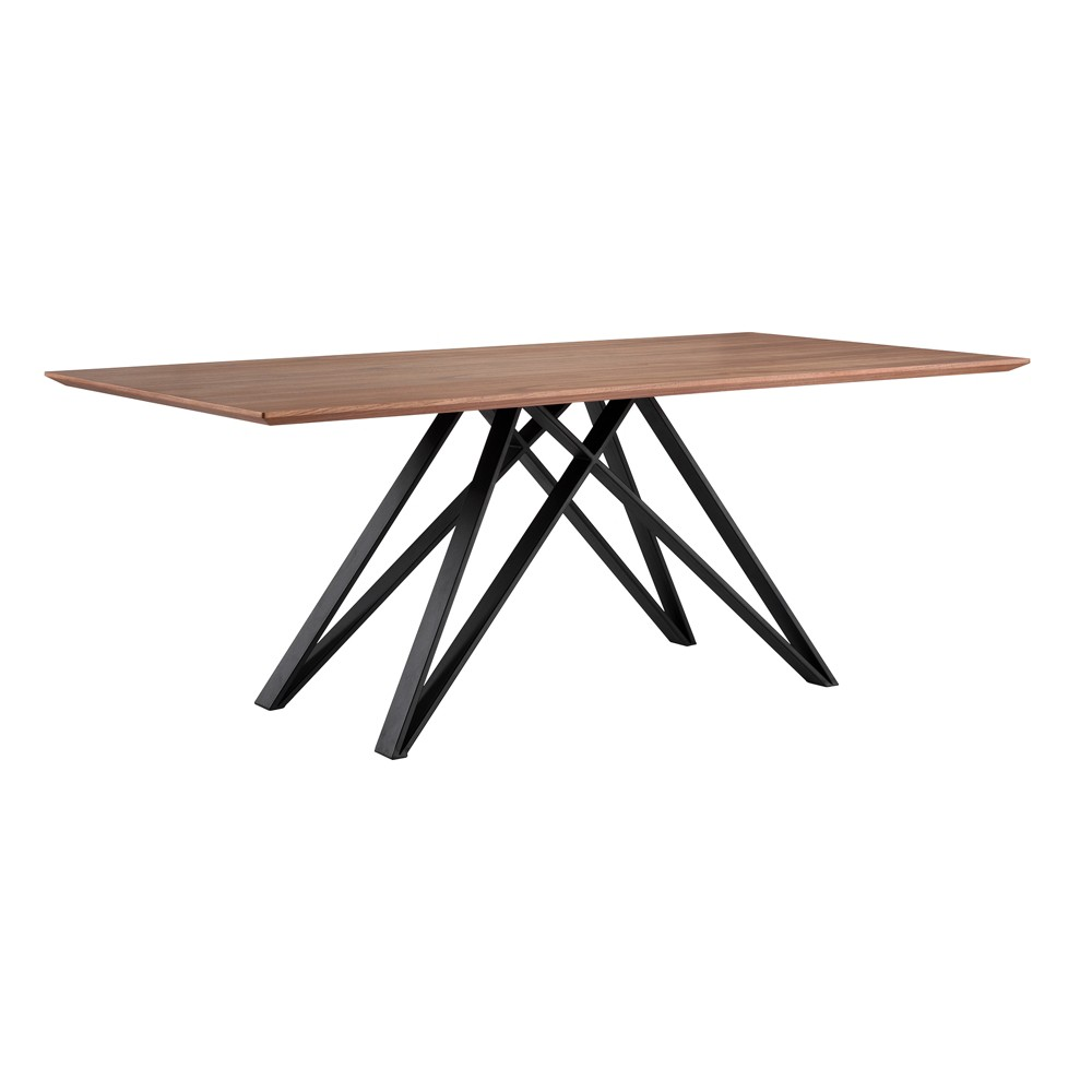 Modena Contemporary Dining Table Walnut (Brown) - Armen Living
