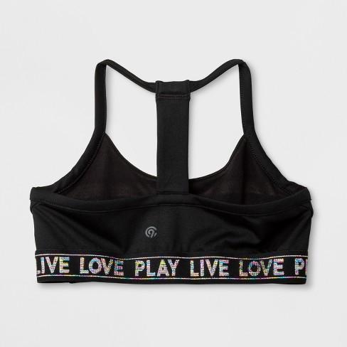 39113ec9f7 Girls  T-Back Cami Sports Bra - C9 Champion® Black   Target