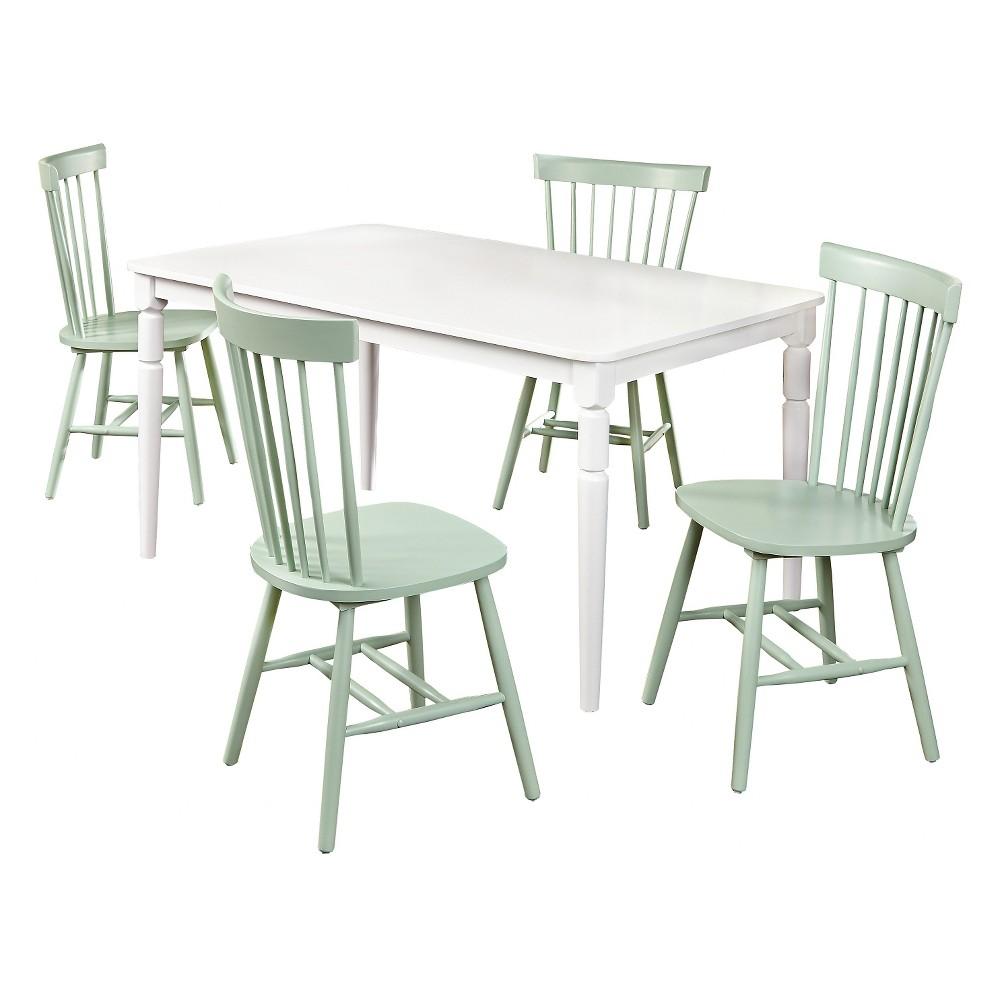 Vinturi Dining Set White/Mint 5 Piece - Tms