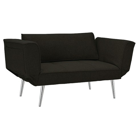 Euro Futon with Magazine Storage - Black - Dorel Home Products - image 1 of 10