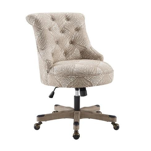 Sinclair Office Chair Beige Floral Linon Target