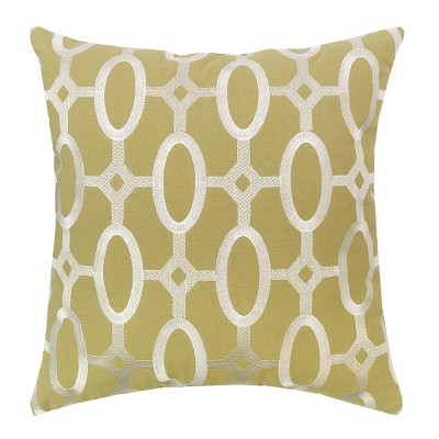 """C&F Home 17"""" x 17"""" Cream on Green Tufted Pillow"""