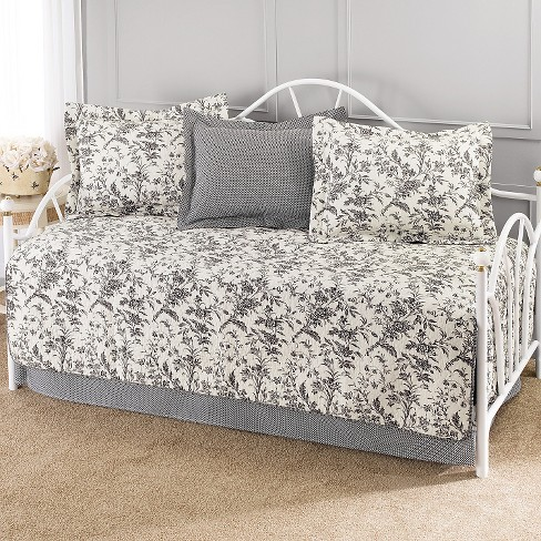 Laura Ashley Amberley 5 Piece Daybed Set - Black/White (Daybed) - image 1 of 1