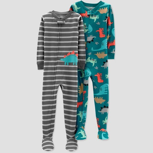 56310a4df743 Toddler Boys  Stripe Dino Poly Pajama Set - Just One You® Made By ...