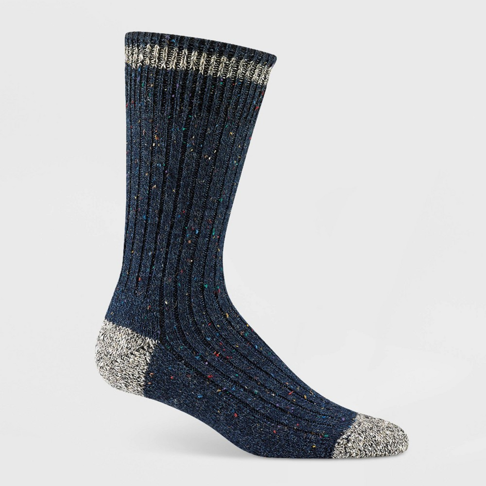 Image of Wigwam Women's Fireside Cushioned Midweight Crew Boot Socks - Blue, Women's, Size: Small