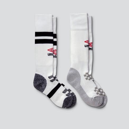 0ebd6a5cf4 Umbro 2pk Knee High Soccer Socks - White   Target