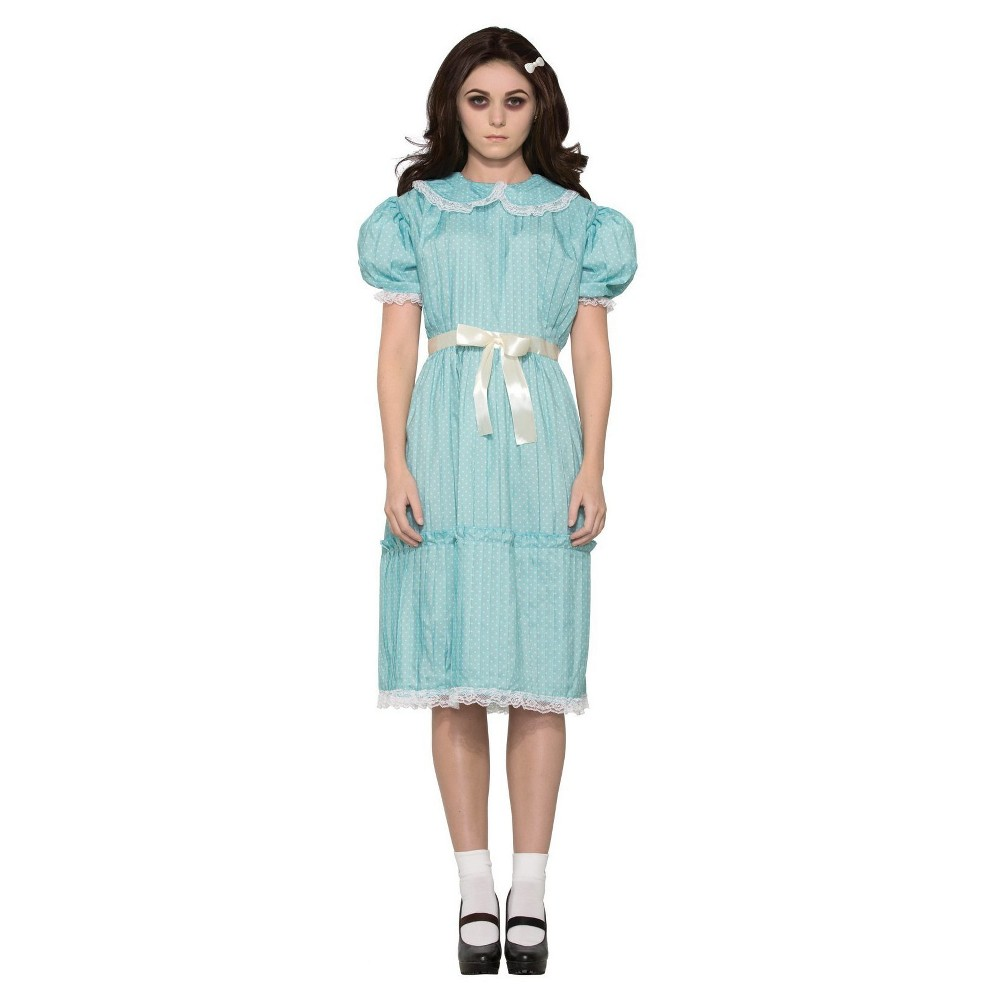 Image of Halloween Women's Creepy Sister Grady Twins Dress Standard Adult Costume, Size: Small, MultiColored