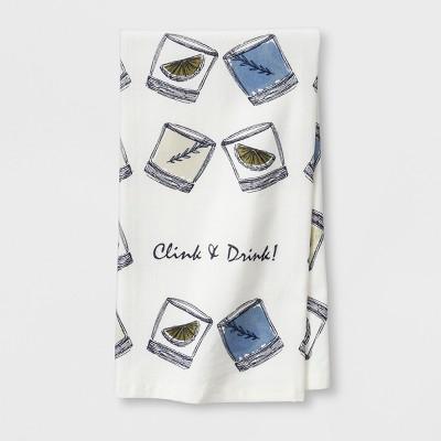 Blue Clink & Drink Kitchen Towel - Threshold™