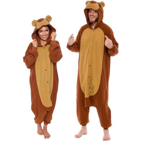 Funziez! Teddy Bear Adult Unisex Novelty Union Suit - image 1 of 4