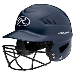 Rawlings Coolflo Baseball Helmet with Facemask - Navy (6  - 7 )