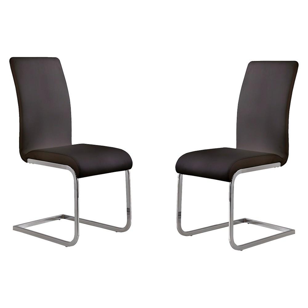 Amanda Black Side Dining Chair - Black (Set of 2) - Armen Living