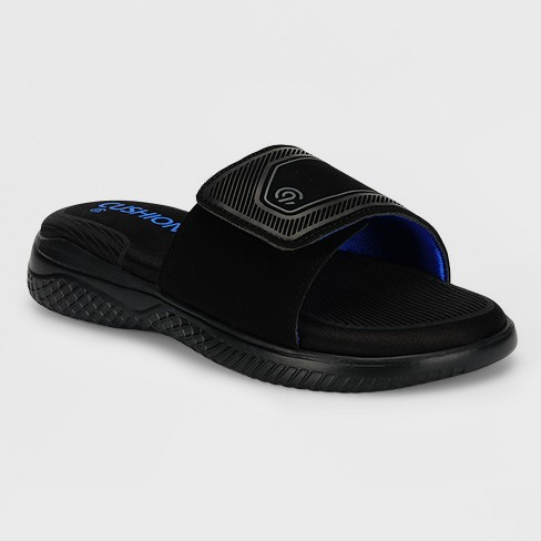 Boys' Franco Slide Sandals - C9 Champion® Black - image 1 of 3