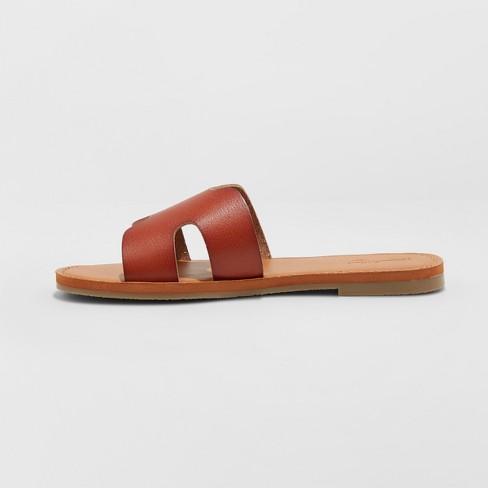 4527ae6a2d4d Women s Jenny Wide Width Slide Sandals - Universal Thread™ Brown 7W ...