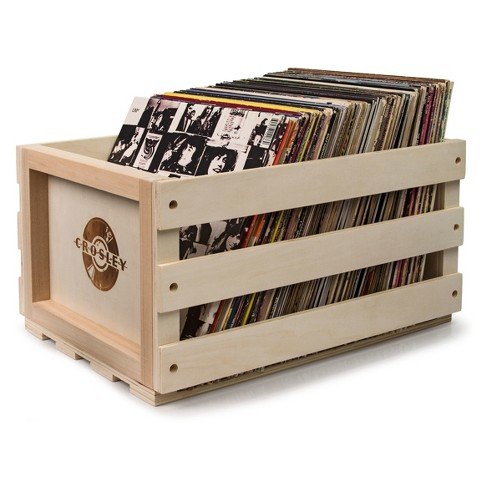 Crosley Record Storage Crate Wooden - image 1 of 4