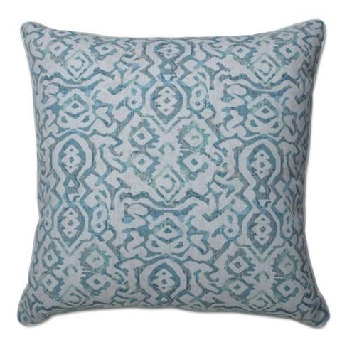 """25"""" Outdoor/Indoor Dobran Floor Pillow Harbor Mist Blue - Pillow Perfect - image 1 of 1"""