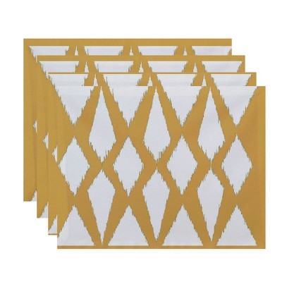 Set of 4 Blue Diamond Placemat - E by design