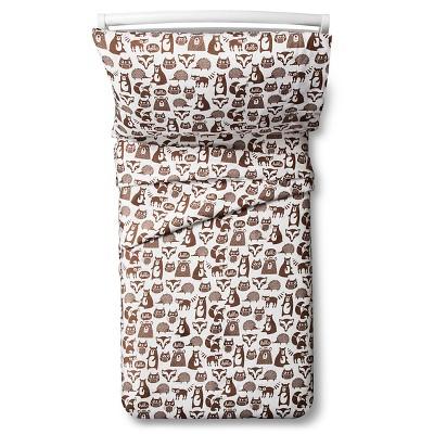 Forest Friends Sheet Set - Toddler - 3pc - Brown & White - Pillowfort™