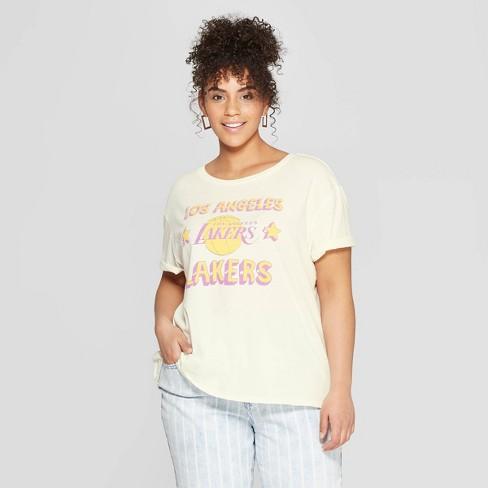 5c6b0c8047 Women s NBA LA Lakers Plus Size Short Sleeve T-Shirt - Junk Food (Juniors )  White 1X