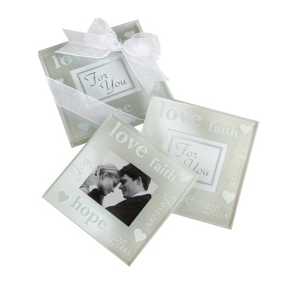 12ct Good Wishes Pearlized Photo Coasters