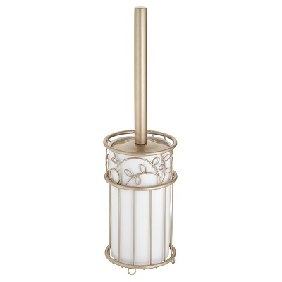 Twigs Toilet Bowl Brush And Holder Set Champagne Pearl - InterDesign®