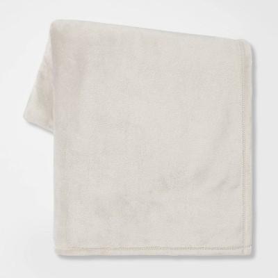 Solid Plush Throw Blanket Light Gray - Room Essentials™