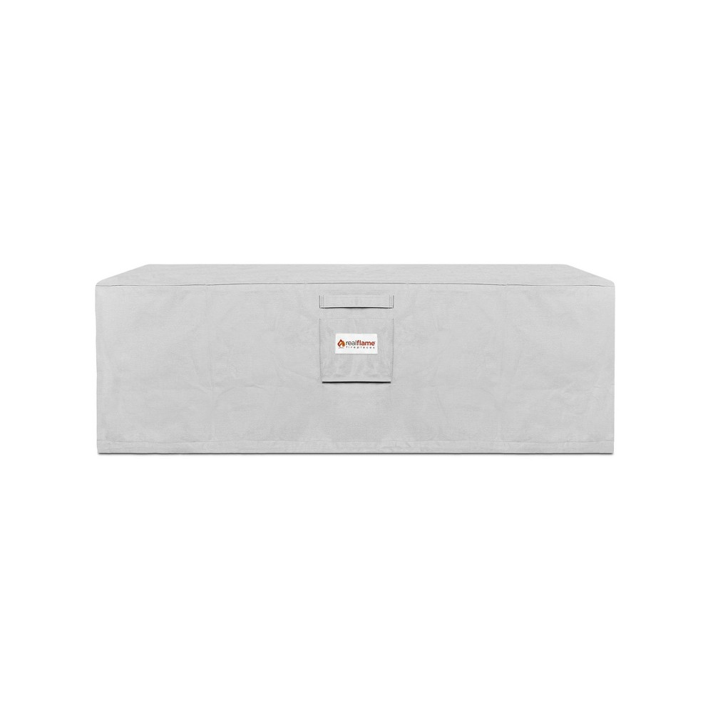 Image of Sedona Rectangle Fire Pit Cover Gray - Real Flame